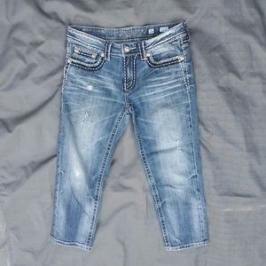 Miss Me Boyfriend jeans Distressed Thick Stitch